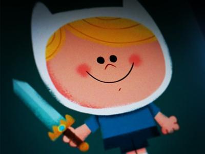 Adventure Time Progress finn adventure fantasy cartoon illustration boy sword cartoon network