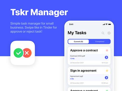 Tskr Manager mobile app ui design uidesign ui ios