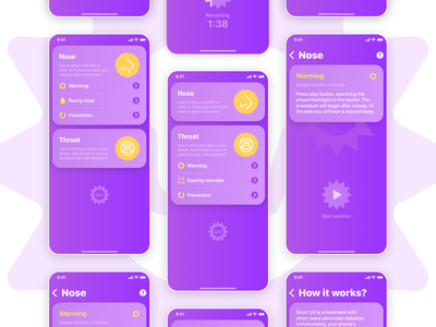 Short UV App iphone ios app design ux ui design ios app mobile ui