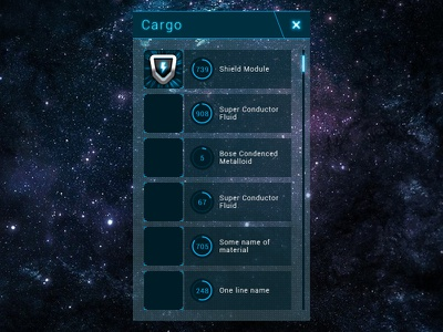 First UI window and icon for eosgame.ru game ui space icon