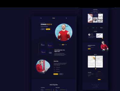 Personal Portfolio Web UI