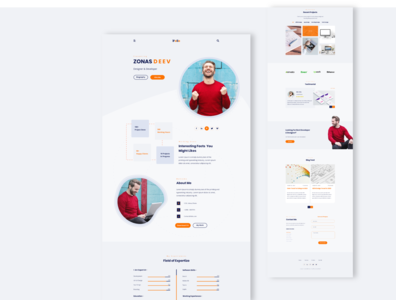 Personal Portfolio Web UI - Light Version
