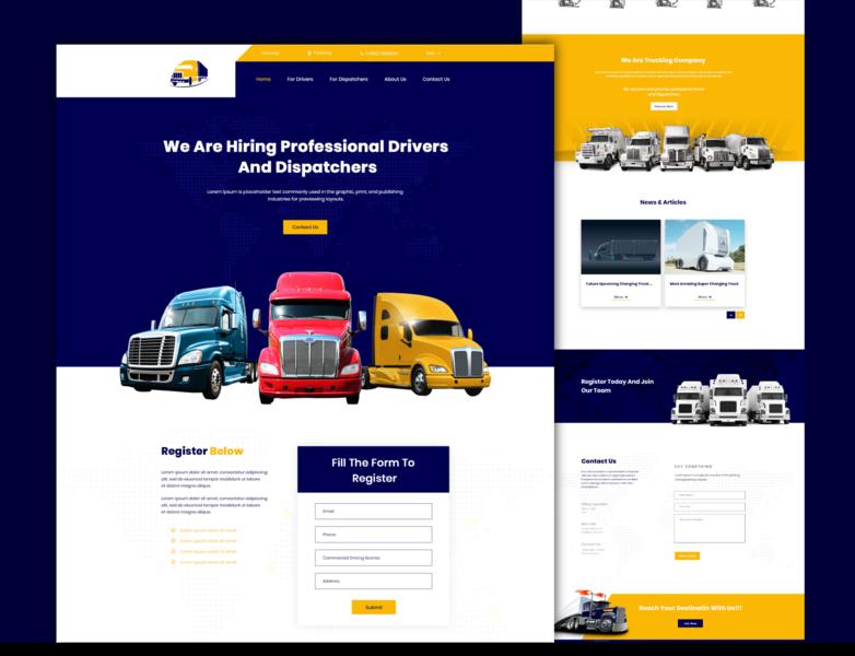Trucking Company Landing Page