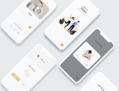 Social Media App Onboarding user interface design app ui ux app ui app design socialmedia social media app app onboarding onboarding onboarding ui onboarding screen