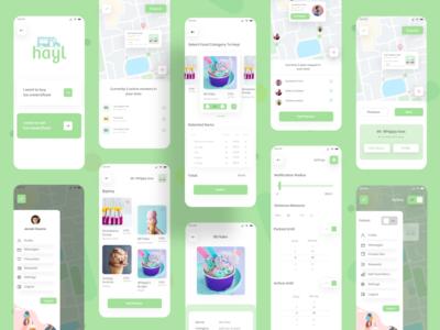 Ice Cream Van Tracker APP UI food delivery app delivery app food app food tracker app designer app design app ui ux ice cream app ice cream van icecream van tracker ice cream van tracker