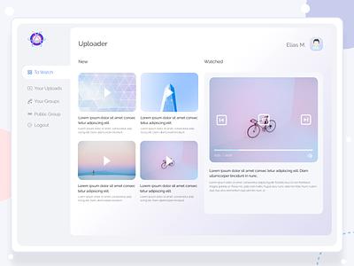 Content Management webapp management web app ui ux webapp design dashboard ui dashboard template dashboard design video management video software content design content management system