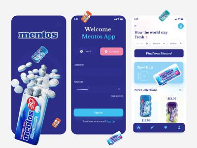 Mentos App app ui ux application design application ui app ui design app design app user interface candy app ui ux chocolate app candy app mentos app ui ux mentos app mentos