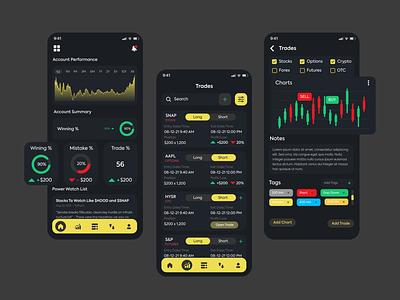 Crypto Signals Provider app interface app ui app ui ux trade app bitcoin cryptocoin trading app crypto trade cryptosignals provider crypto currency crypto app