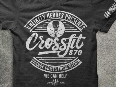 UH x CF870 skull barbells shirt company entrepreneur design art change shirt apparel crossfit