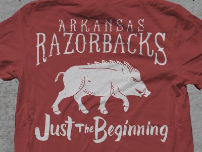 Razorback Shirt fayetteville north west arkansas sec vintage football yoder hand lettering arkansas razorbacks shirt