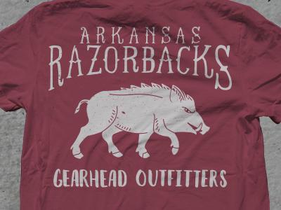 Razorback Shirt II north west arkansas hand lettering gearhead outfitters vintage shirt sec razorbacks football fayetteville arkansas