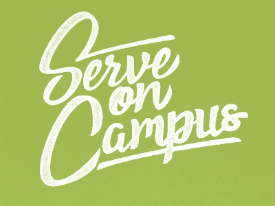 Serve on Campus thick lines typography font multi-campus church serve