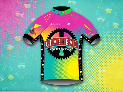 Cycle House Kit jersey cycling kit cycling gearhead saved by the bell retro 80s