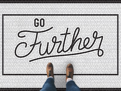 Go Further Sermon Series vector photoshop lettering letter illustrator handlettering calligraphy sermon tile bathroom tile typography type