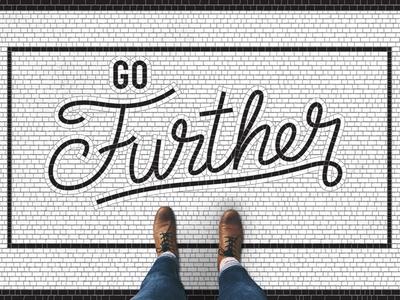 Go Further Sermon Series vector photoshop lettering letter illustrator handlettering calligraphy sermon tile bathroom tile typography type