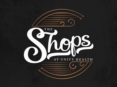 The Shops art logo lettering graphic design design typography healthcare health hospital magic gift gift shop