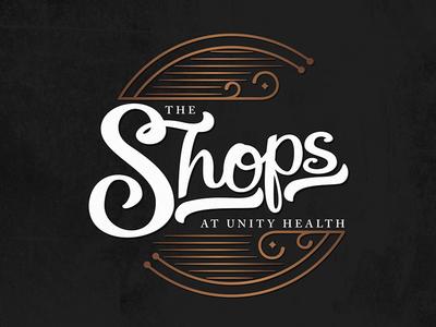 The Shops art logo lettering graphic design design typography healthcare health hospital magic gift gift shop