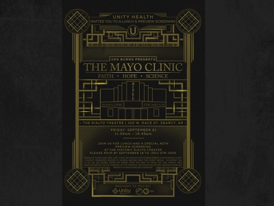 Movies gatsby deco art deco gold great gatsby design healthcare pbs invite mayo clinic ken burns