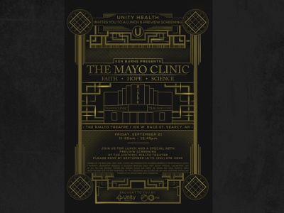 Movies gatsby deco art deco gold great gatsby design healthcare pbs invite mayo clinic ken burns