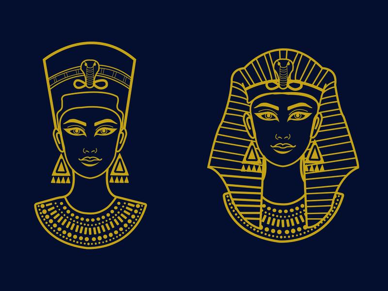 Beautiful Egyptian Woman icon logo ui girl character graphic design girl illustration design illustration beautiful hellodribbble helloween mummy