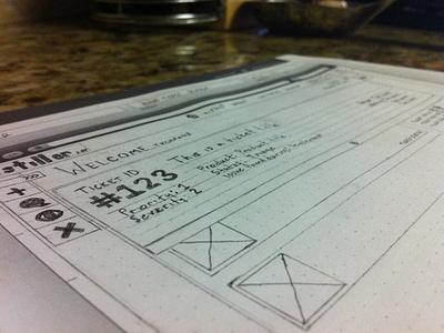 Distiller App Wireframe #1 wireframe sketch layout ui