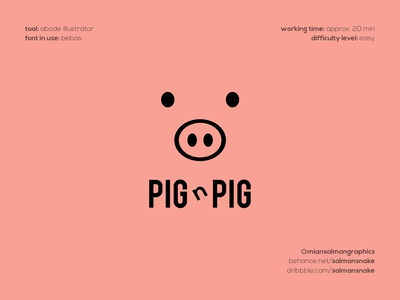Pig n Pig Logo Design creative logo designs creative designs clever logos smart logos creative logos pig face logo pig face pig logo piggy logo pig bebas font logo design graphic designer logo design brand designer logo designer