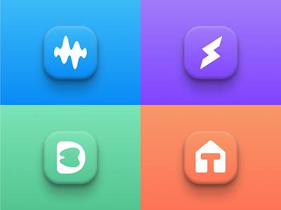 Approved App Icons/Logos modern gradient design art clean ui minimal logos flat logos vector app icon icon design logo app app logo creative logos branding logo design graphic designer brand designer logo designer