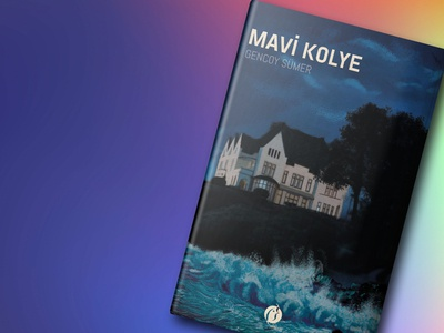 Mavi Kolye Book Cover bookcoverdesign bookcover drawing artwork graphicdesign digital illustration