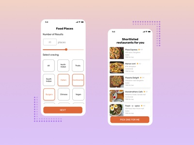 Crave - Food App Concept uxui ux user interface design ui uidesign user interface restaurant app foodapp food uxdesign