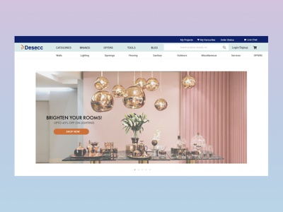 Desecc- Ecommerce website for Architects and Interior designers ui ux uidesign user interface design design user interface uxdesign