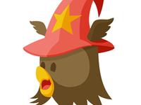 An Owl Wearing an Imagine Hat