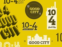 10-4 Good City Logos
