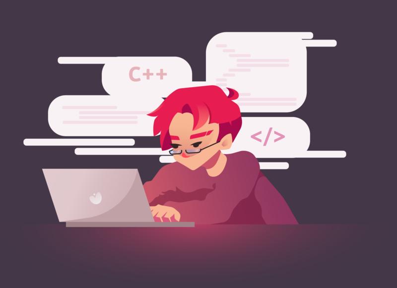 Coding-boy illustration
