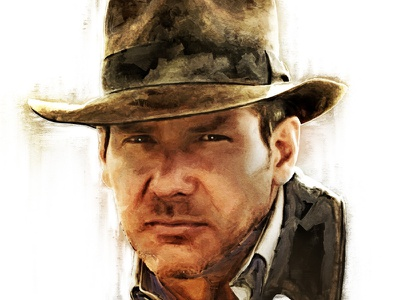 Indiana Jones portrait disney lucasfilm spielberg indiana jones indy