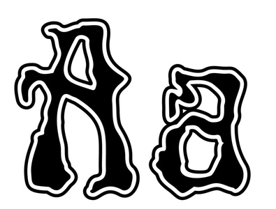 Rick Griffin font sample