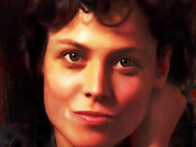 Ripley alien portrait photoshop illustrator adobe