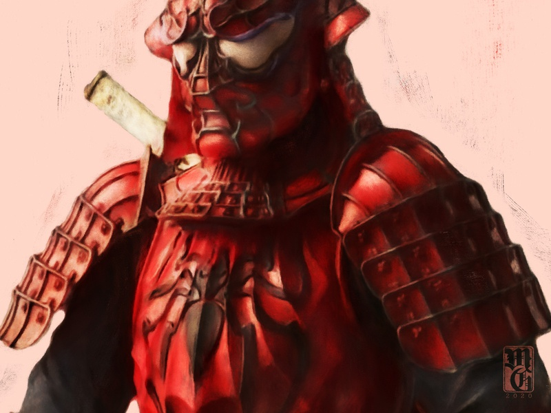 Spider Man Samurai disney marvel illustration portrait
