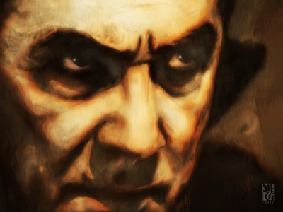 Dracula illustration portrait vampire dracula bela lugosi