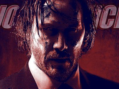 John Wick movie poster portrait photoshop illustrator illustration keanu reeves john wick