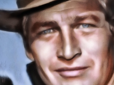 Butch Cassidy moviestar hollywood icon movies paul newman portrait