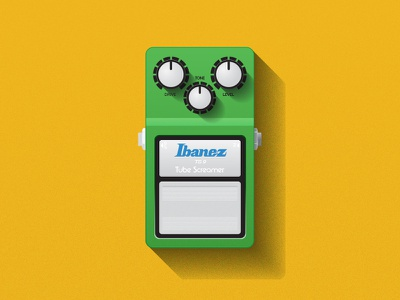 ibanez tube screamer vector illustrator stomp box pedals guitar series