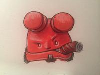 hellboy doodle