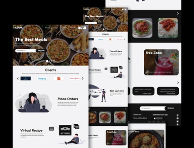 Designed a Meal Ordering Website digitalart invision studio invision invisionapp invisionstudio food design user experience user interaction user interface product design ux design uxdesign uxui ui
