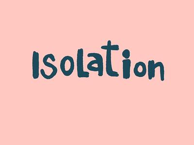 Social distancing - Isolation 2danimation animatedillustration animation procreateanimation procreate design