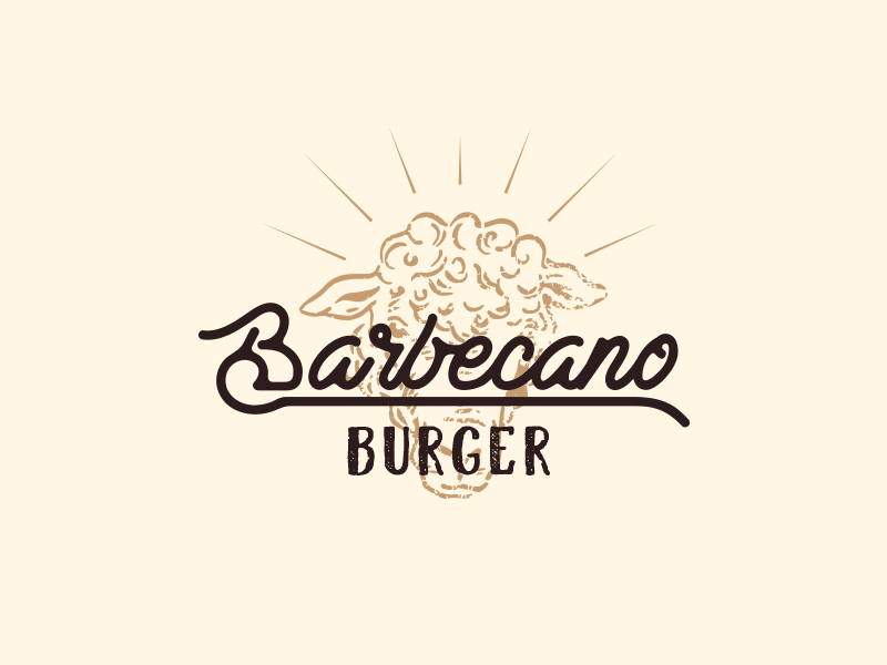 Barbecano Burger badge vintage badge vintage design vintage hamburger lamb burger typography restaurant vector lettering illustration icon branding design brand logotype logo