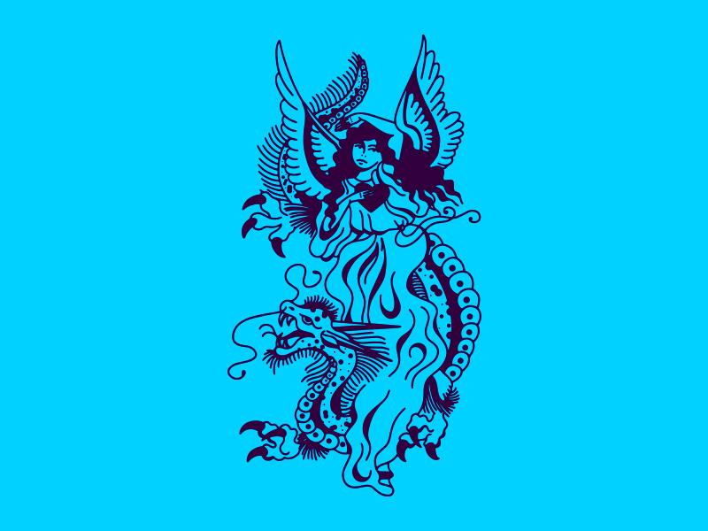 Celestial old school tattoo tattoo design tattoo art tattoo old school heaven celestial vector illustration