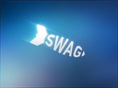 Swag Bomb logotype. design tjaydesign logo logotype blue swag bomb idea awesome