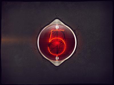 Nixie Timer. design tjaydesign awesome orange red violet nixie digit light old glass clock timer