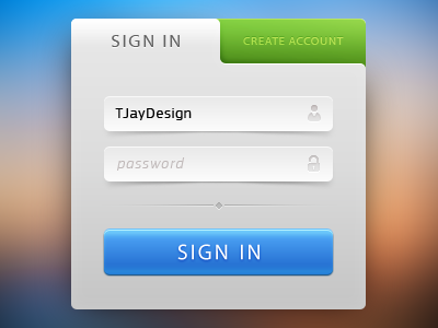 Sign-In form. design tjaydesig awesome nice green blue colorful web form button sign password login