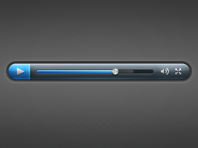 VideoPlayer. design tjaydesign awesome blue video player ui button play interface
